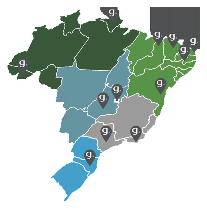 Atuamos em todo o território brasileiro